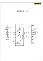 Z210 mortise lock (R3 security fittings)
